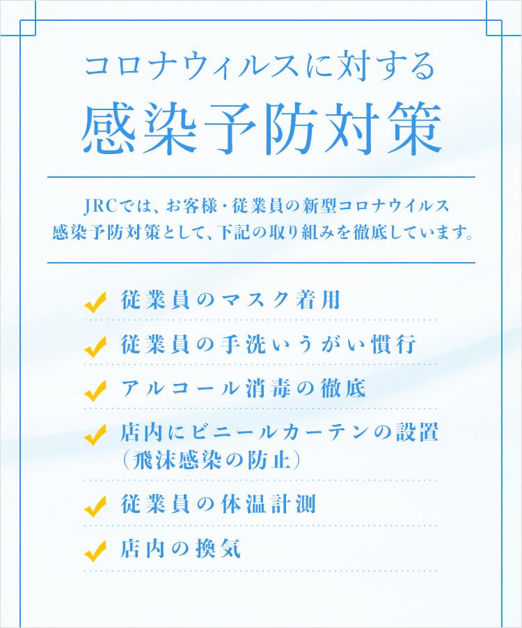 コロナウィルスに対する感染予防対策